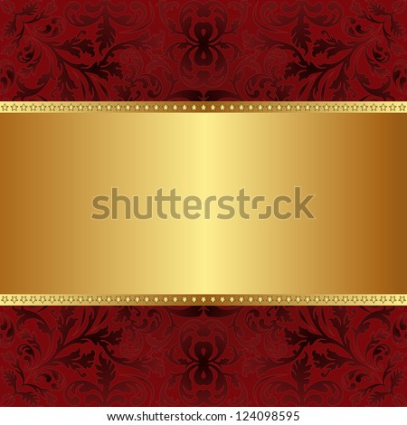red gold background with copy space - stock vector