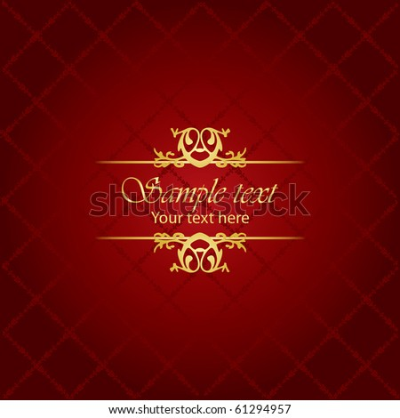 Red & gold luxury background - stock vector