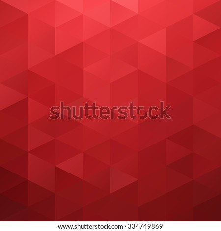 Red Grid Mosaic Background, Creative Design Templates - stock vector