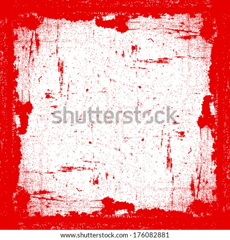 Red Grunge Frame for your design. EPS10 vector.