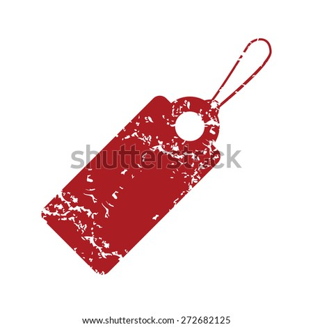 Red grunge price tag logo on a white background. Vector illustration - stock vector
