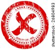 Red grunge rejected stamp on a white background. Vector illustration. - stock photo