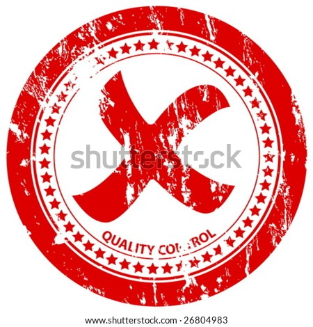 Red grunge rejected stamp on a white background. Vector illustration. - stock vector