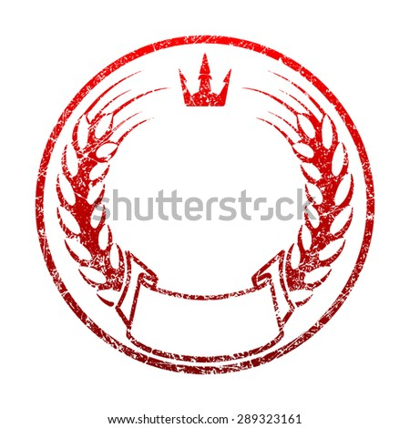 Red Grunge Rubber Stamp Template Spikelets Stock Vector 289323161