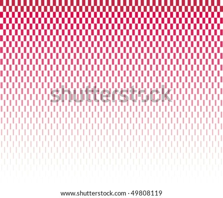 red halftone rectangles on white background - stock vector