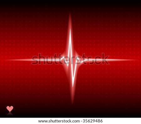 Red heart bear. Vector illustration. - stock vector