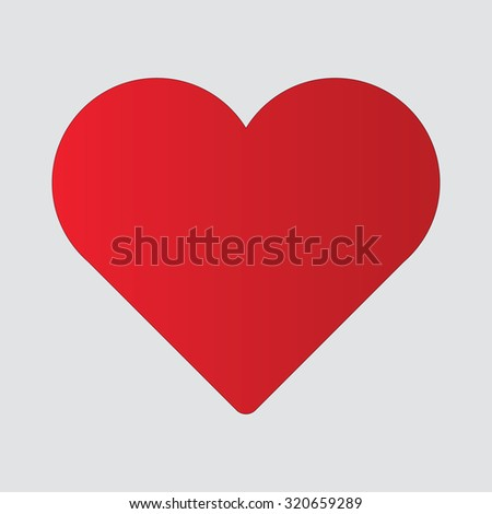 Red Heart Icon - stock vector