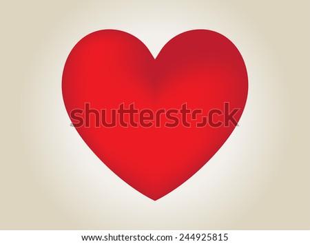 Red heart vector illustration. - stock vector