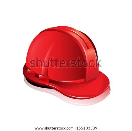 Red Helmet - stock vector