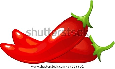 Red Hot Chili Pepper - stock vector