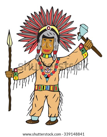 Red Indian vector illustration
