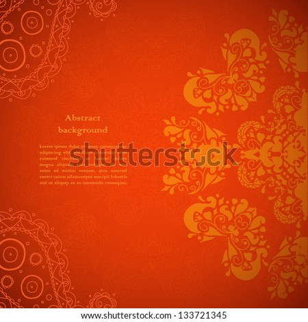 Red Indian Vintage Ornament. Vector illustration for your business presentation - stock vector