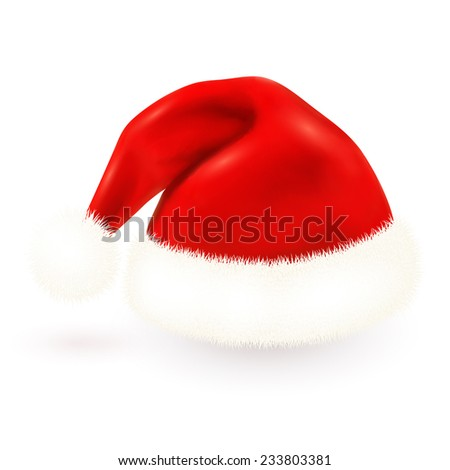 Red isolated vector Santa's hat