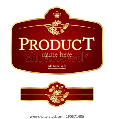 Red Label template - stock vector