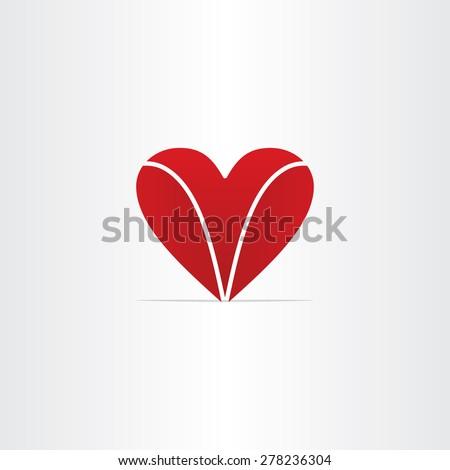 Red Letter V Heart Valentine Symbol Stock Vector 278236304