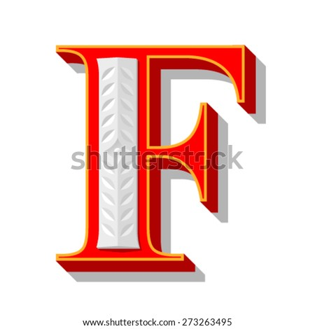 Red letter with stamping. - stock vector