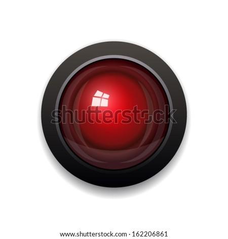 Red Light. Vector - stock vector