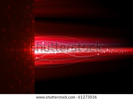 Red lightning. - stock vector