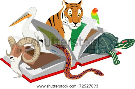 Red List of Threatened Species - stock vector