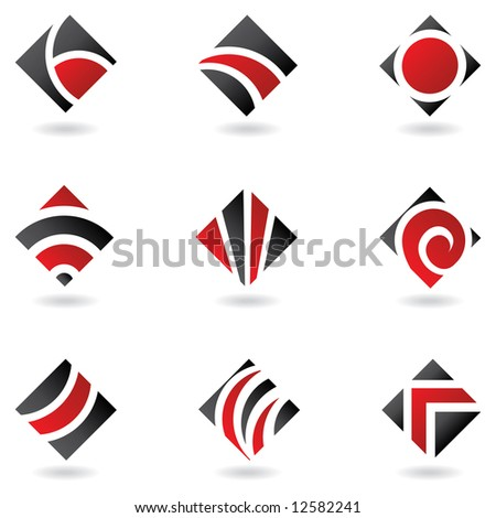 Red logos to go with your company name - stock vector
