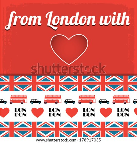 red London background - stock vector