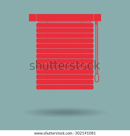 Red Louvers sign icon. Window blinds