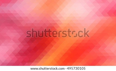 Red Low polygon Triangle Pattern Background