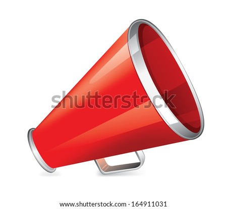 Red Megaphone Icon