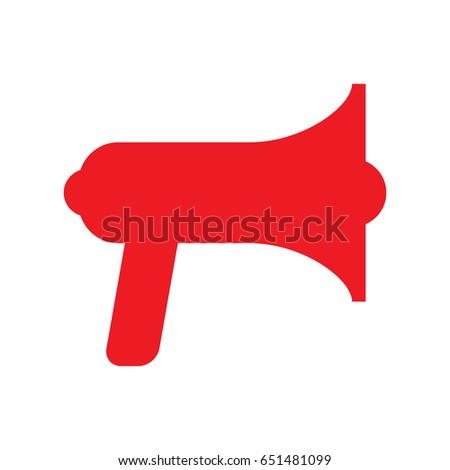 red megaphone icon vector illustration