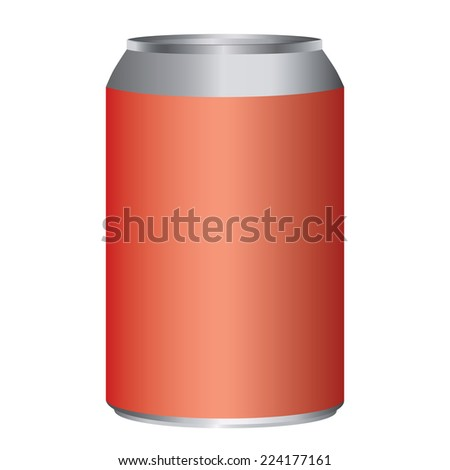 Red metal can adjustable high size isolated on white - stock vector