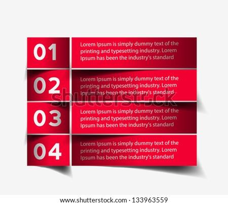 Red Modern banner design - stock vector