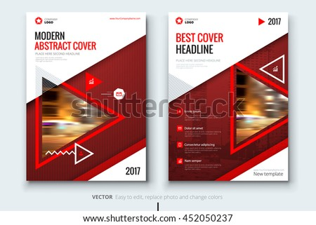 red modern brochure design corporate business stock vector royalty