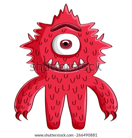 red monster - stock vector