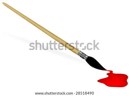 Red Paint. - stock vector