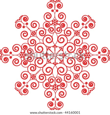 Red pattern - stock vector