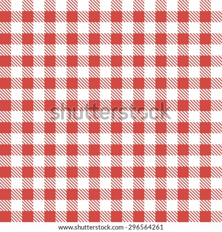 Red patterns tablecloths - stock vector