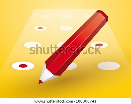 red pencil with Forms - stock vector