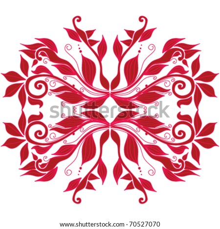 red plants decoration - stock vector