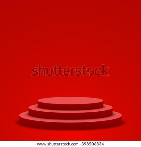 red podium pedestal scene vector illustration stock vector royalty