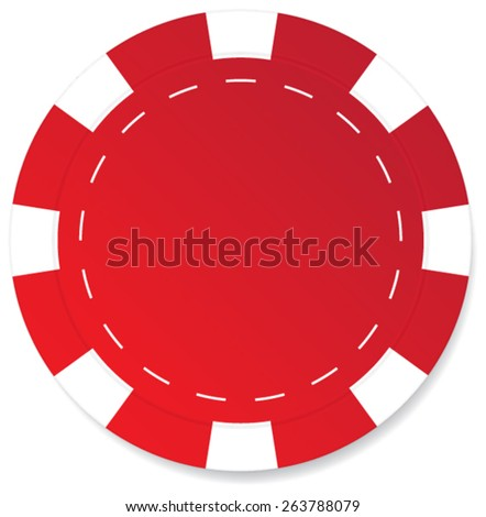 Red poker chip vector isolated - stock vector