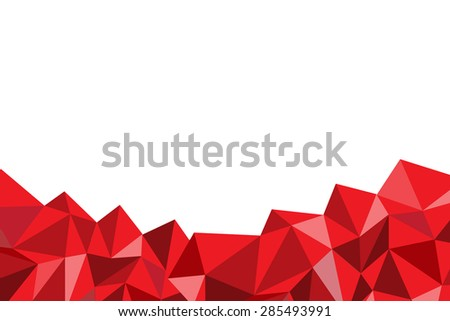Red poly abstract on white background stock vector 285493991 red poly abstract on the white background voltagebd Gallery