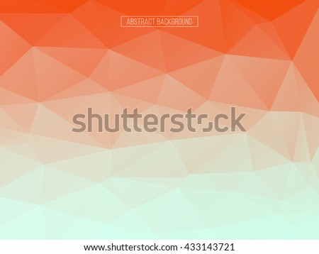 Red polygon pattern. hexagon background. triangle background, Design element - stock vector