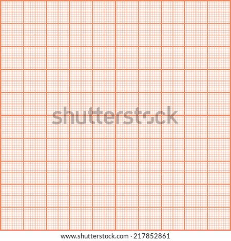 Red print texture. Graph paper. - stock vector