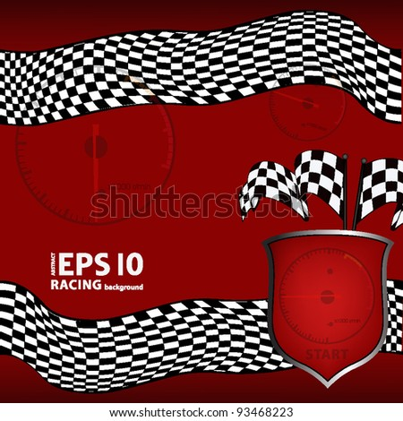 red racing checkered background. EPS10