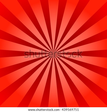 Red rays poster. Popular ray star burst background television vintage. Dark-red and light-red abstract texture with sunburst, flare, beam. Retro art design. Sun glow bright pattern Vector Illustration - stock vector