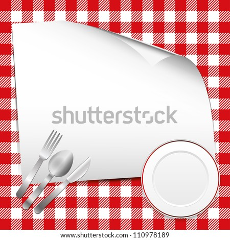 Red restaurant background with place for text - stock vector