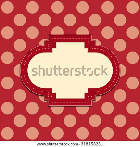 Red Retro frame background - stock vector