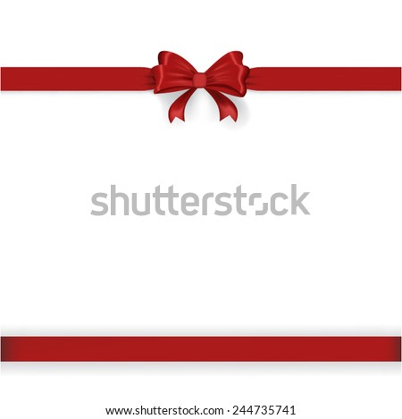 red ribbon - stock vector