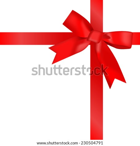 Red ribbon wrapping with ribbon bow