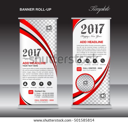 Red Roll Banner Template Banner Design Stock Vector 501585814 ...